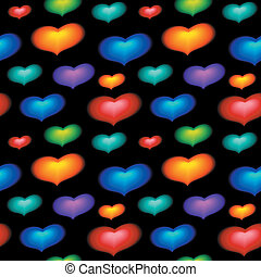 seamless wallpaper with color heart