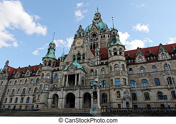 New City Hall in Hannover - New City Hall (neues Rahaus) in...