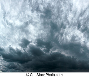 Storm clouds - Blue storm clouds on a sky - background