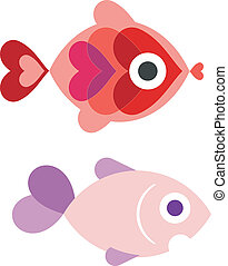 Aquarium fish - Ornamental fish - illustration, isolated...