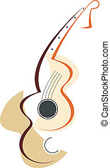 Guitar logotype - Stylized vector illustration. Guitar icon....