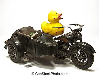 Rubberduck on Motorbike