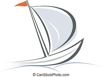游艇, 帆船