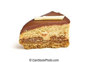 Cheesecake wedge - Chocolate caramel cheesecake wedge...