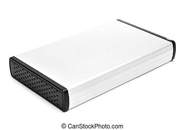 external hard disk drive on a white background