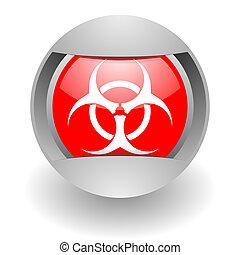 biohazard steel glosssy icon