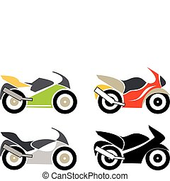 Moto, Motorcycle - Sport bike, motorcycle - isolated vector...