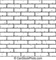 Brick Wall Seamless texture - Vector illustration of...