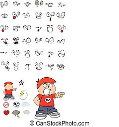 kid cartoon set12 - kid cartoon  set in vector format