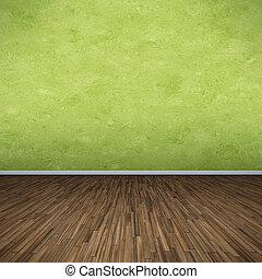 綠色, 地板
