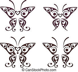 Butterfly pattern tattoo
