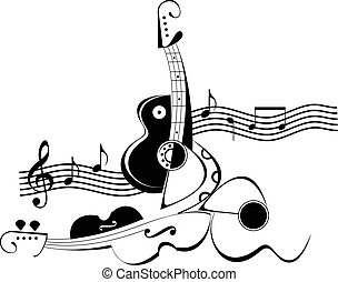 Music art collage - Vector illustration
