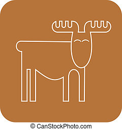 Elk - a stylized vector image, sketch Outline Can be used as...