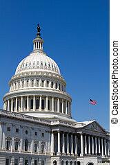 USA Capital Dome - USA Capital dome with the flag waving...
