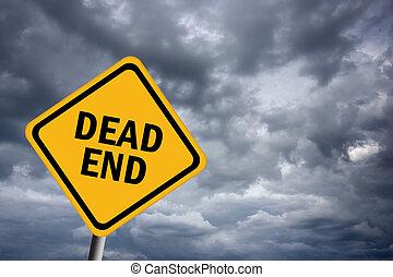 Dead end road sign - Illustration of dead end road sign