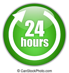 24 hours service sign - 24 hours service green logo