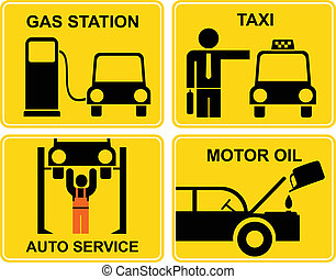 Autoservice, fuel station, change m