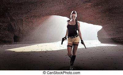 Lara Croft saves the world again