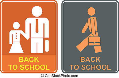 Back to school - Isolated vector icon - back to school