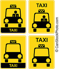 Taxi - Four signes with taxi.