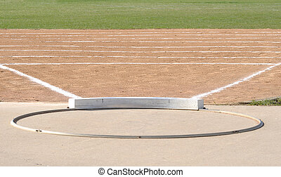 Shot Put Circle and Field - Shot Put Ring and Field with...