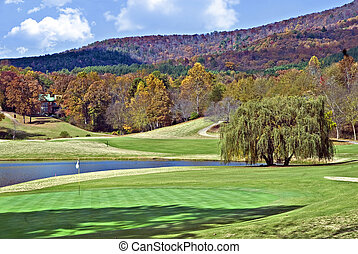 Beautiful Gold Course in Autumn