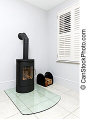Wood stove - Free standing cast iron wood burning stove