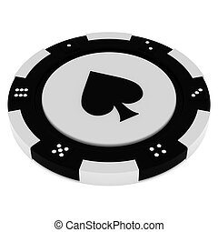 Casino tokens - Colorful casino chips isolated over white...