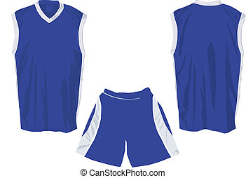 Tank top template for sports in separate layers for easy...