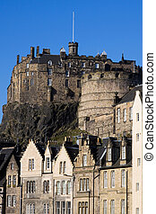 Edinburgh Castle and Grassmarket - Edinburgh Castle viewed...