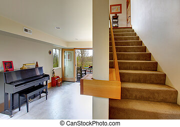 Room with staircase