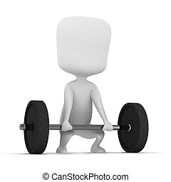 Weightlifting - 3D Illustration of a Man Weightlifting