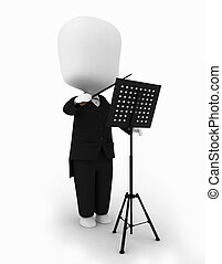 Conductor - 3D Illustration of a Music Conductor