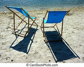 deck chair near the water