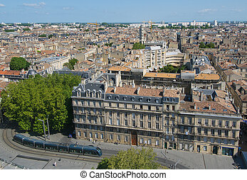 Panorama of Bordeaux, France