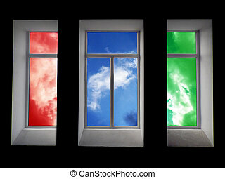 Colorful window Element of design