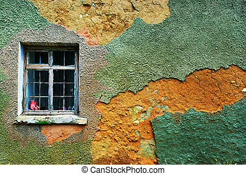 Life inside - Window of house Texture composition