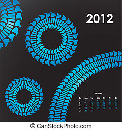 special calendar for 2012 with tire design