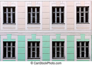 Two-storey administrative building - Fragment of facade...