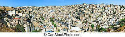 Panorama Of Amman, Jordan - Panorama of Amman Jordan. Urban...