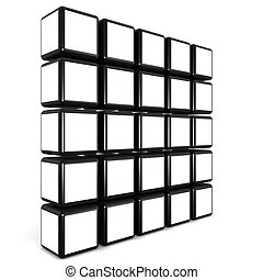 Cube photo frame gallery concept