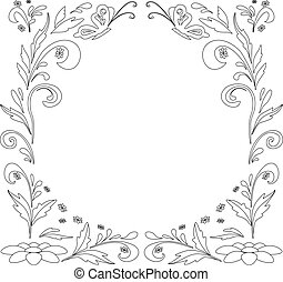 Abstract floral background, contours