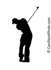 Golf player - Silhouette of a golf player