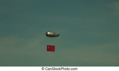 Airship in the sky