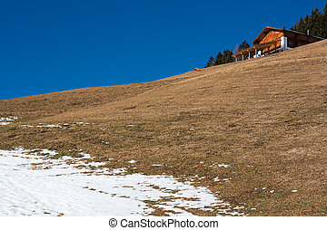 typical tirol mountain slope