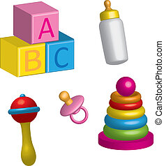 baby icons 3d