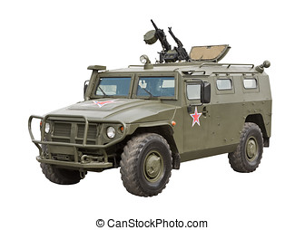 Armored Car Tiger - Armored Car Tiger isolated on a white...