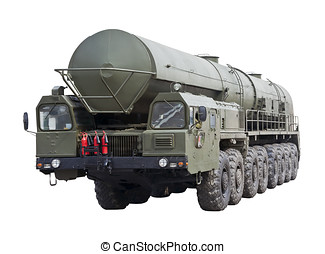 intercontinental ballistic missile Topol-M is isolated on a...