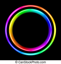 Multicolor spectral circle Illustration on black background