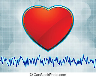 Heart and heartbeat symbol cardiogram. EPS 8